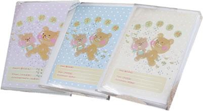 親子絆手帳表紙 3色よりお選びいただけます。