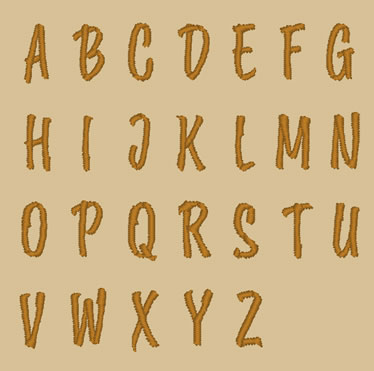 刺繍フォント