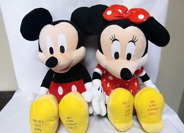 ディズニー ウエイトドール ミッキーマウス ミニーマウス