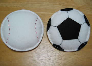 サッカーボール、野球ボール
